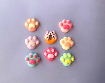Cat paw and cat donut pins