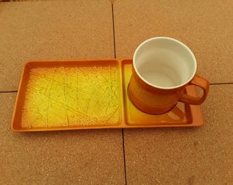 Carlton Ware tray and mug.