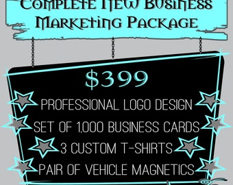 Complete NEW Business Branding & Marketing Package: Logo,Cards,Shirts and Signage