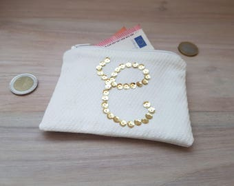 clutch purse custom letter C