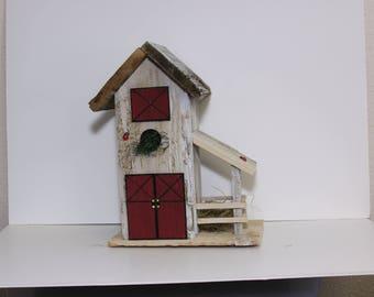 One Sided Barn Birdhouse #315