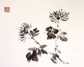 Wild Geraniums in formatting Horizontal, Summi-e, ink China