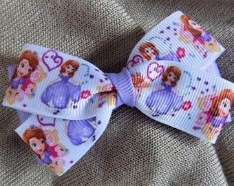 Sofia the First Hair Bow - Girl's Hair Bow, Toddler Hair Bow, Hair Bow for Girl, Hair Accessory,  Disney Hair Bow,  Princess Hair Bow,  Bow