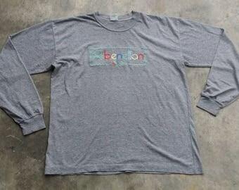 Vintage 90' Benetton long sleeve shirt #01