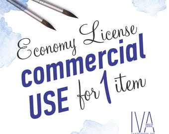 Economy License for Commercial use for 1 Item