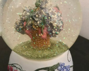 Just Picked by Deb Mores Hand Painted Snowglobe