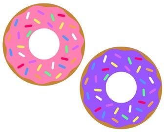 Sprinkle Donut Doughnut SVG, Eps, Dxf, Png, Pdf, Donut Cut file, Donut cutting file, Donut, Dxf Silhouette Cricut Vinyl Design, Instant