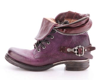 Beautiful Purple Ankle Boot