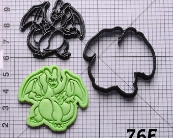 Charizard Cookie Cutter Charizard Fondant Cutter Charizard Birthday Gift Charizard Gift Charizard Party