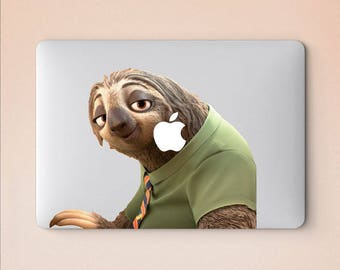 Sloth laptop sticker for macbook pro skin macbook sticker macbook air sticker macbook front decal