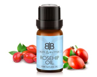 Rosehip Essential Oil 100% Pure Natural Fragrance Aromatherapy For Face & Body Treatment - 10ml, 25ml, 50ml, 100ml Bottle
