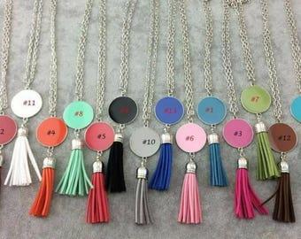 Monogrammed lanyard necklace