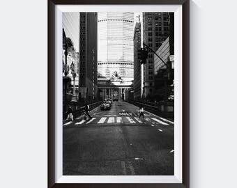 Park Avenue. Manhattan, New York City. Black and White Fine Art Photography. Framed Print for Interior Design & Home Decor