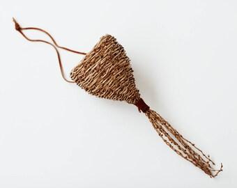 Vintage Hanging Woven Basket
