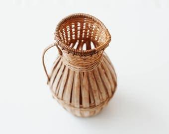 Vintage Basket Carafe/Vase