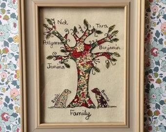 Small Family Tree, framed