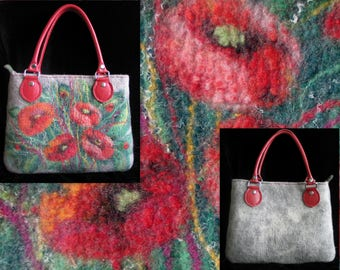Wool purse  Purse wool Bag for Women Bag Bag with Flowers