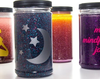 Custom Glitter Mindfulness | Relaxing | Calm Down Jar for Stress and Anxiety