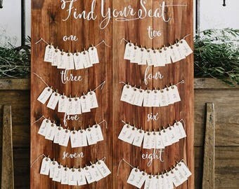 Customised Wooden Seating Chart Sign/Seating Board - Wedding