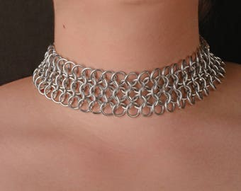 Chainmail Choker Collar/ Necklace