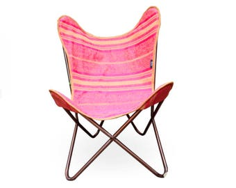 Butterfly chair - Silla Butterfly. Boho chair handmade with selected fabric