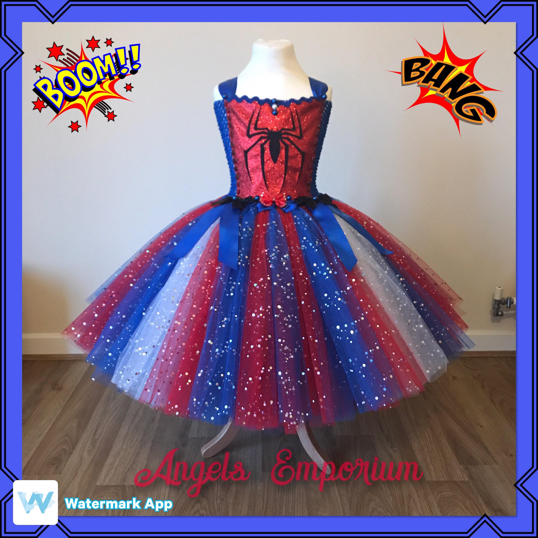 Spiderman Inspired Tutu Dress. Spider-Man Super Hero Princess Tutu ...