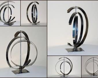 Sculpture moderne abstrait en métal,art métal,déco métal