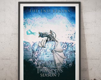 Game of Thrones poster, Instant Download Print, Game of Thrones Home Decor, Game of Thrones watercolor art print, Game of Thrones season 7