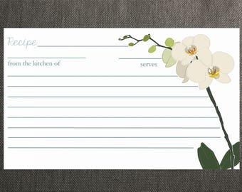 Orchid Recipe Cards