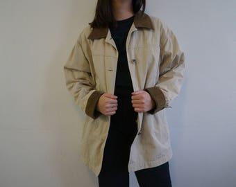 Unisex Cream / beige Trench Coat