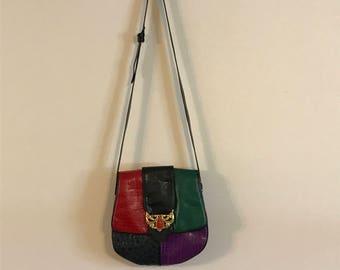Vintage SHARIF 80's Designer Shoulder/Cross Body Bag