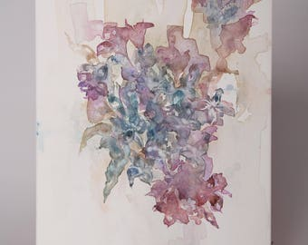 Blue and Purple Floral Bouquet