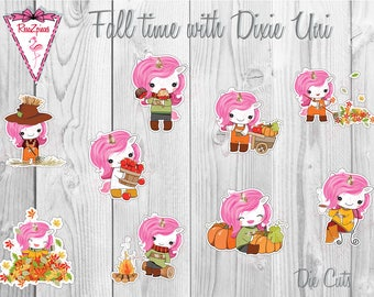 Dixie Uni Die Cuts or Stickers - Fall