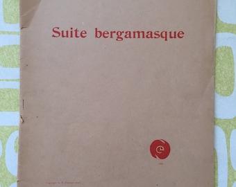 VINTAGE Suite Bergamasque Debussy Original Edition Elkan-Vogel 1923 Jobert Paris, sheet music