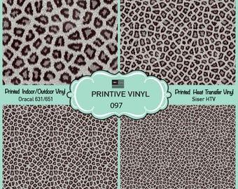 Black Leopard Printed Pattern Vinyl/Siser HTV/ Oracal/ Indoor Vinyl/ Outdoor Vinyl/ Heat Transfer Vinyl- 097