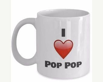 ON SALE: Pop Pop Gifts - I Love My Pop Pop - Pop Pop Mug