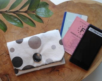 Coated fabric pouch