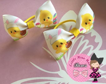 easter chick bows