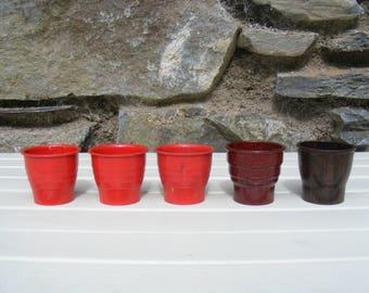 6x vintage egg cups