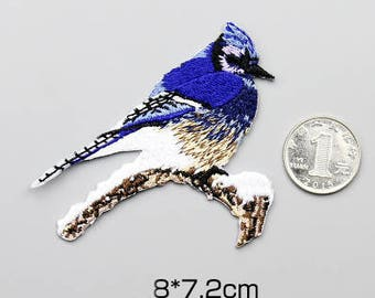 Iron-On Patches, Blue Bird Applique