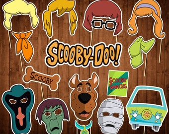 Scooby Doo Photo Booth Props - Printable PDF - Party Birthday Decor - INSTANT DOWNLOAD