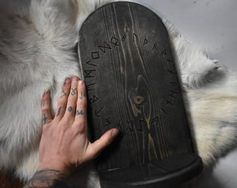 MD. Elder Futhark altar *pagan*asatru*viking*norse*heathen*decor*