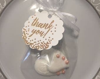 chocolate heart favor wedding bridal shower favor