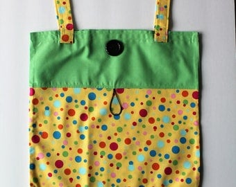 Road Trip Travel Fun Tote Diaper Wipe Tote Book Bag Library Bag Spare Clothing Bag Baby Shower Gift Take Along Fold Up Tote