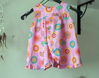 68 apron dress pink