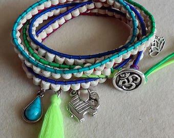 Mystic Elephant Wrap Bracelet
