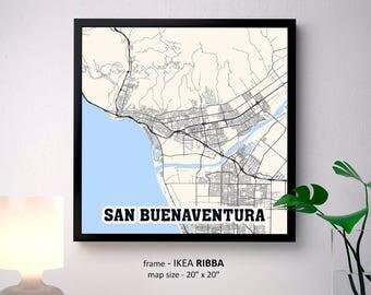 San buenaventura map Etsy