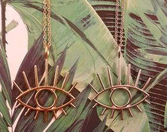 Eye necklace, stylish necklace, cool pendant, punk style