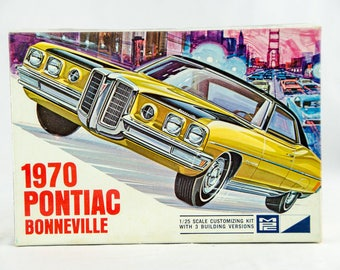 Ultra Rare MPC 1970 Pontiac Bonneville 3n1 1/25 Scale Model Car Kit 970-200