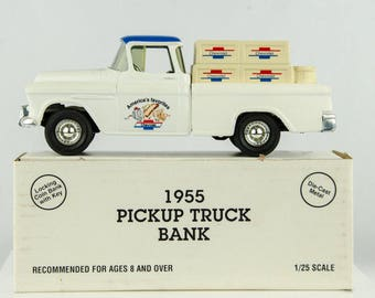 Ertl 1955 Pickup Truck Diecast Bank 1/25 Scale Chevrolet America's Favorite